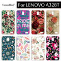 High Quality DIY Colored Plastic Phone Shell Case For Lenovo A328T A 328 SOFT TPU Case Cover For Lenovo A328T A328 Capa Funda