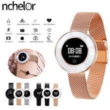 Mode Casual Montre pour Femmes avec Moniteur de Fréquence Cardiaque Sommeil Tracker IP68 Étanche Fille de Montre Smart Watch pour iPhone Xiaomi téléphone