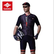 Santic 2019 Men Cycling Sets Jersey + Bib Shorts Pro Fit Wear Bike Granada Clothings Italian mitip cloth