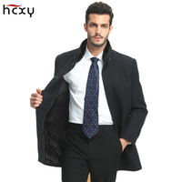 2017Mens Winter Business Leisure Wool Trench Coat parkas Men Long jacket Slim Fit Overcoat Men Coats Fashion Trench Outerwear