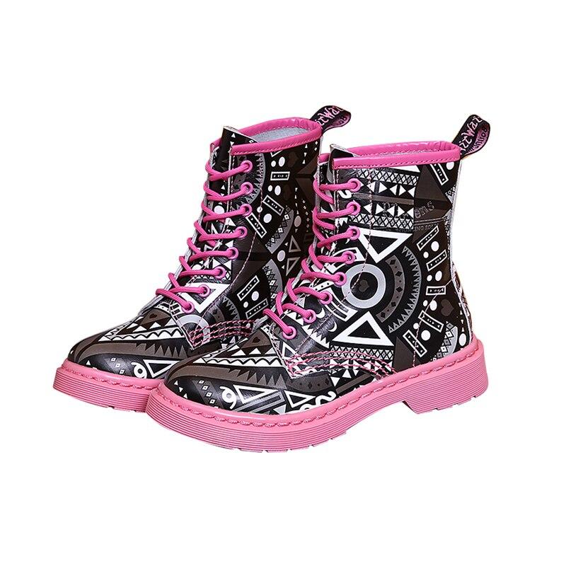 Cuir 2018 En Dentelle Pink De Talons Véritables noir Bas Chaussons Mode Beertola Copies Plats À Femmes Cheville Bottes Up O6xCwqSd