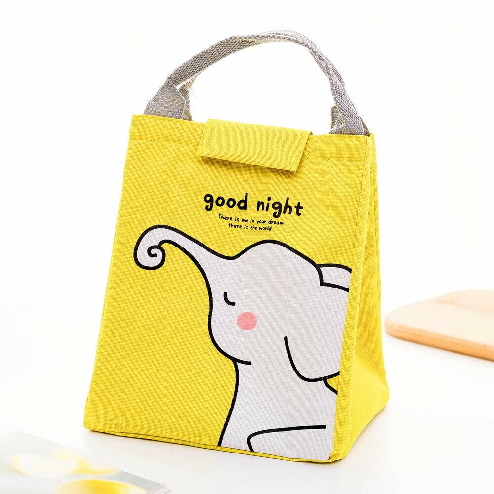 Cute Cartoon Print Lunch Bag Fashion Animal Print Men's Women's Children's Insulation Insulation Food Package Picnic Handbag