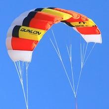 Красный двойной линии Мощность Кайт 40D Рипстоп нейлон для скорости парусный кайтсерф пляжный кайт игры летающие игрушки на открытом воздухе