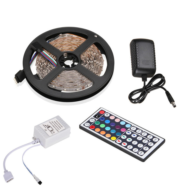 Excelvan 164ft 5m flexible strip smd3528 rgb 300leds color changing excelvan 164ft 5m flexible strip smd3528 rgb 300leds color changing led light strip kit with aloadofball Images