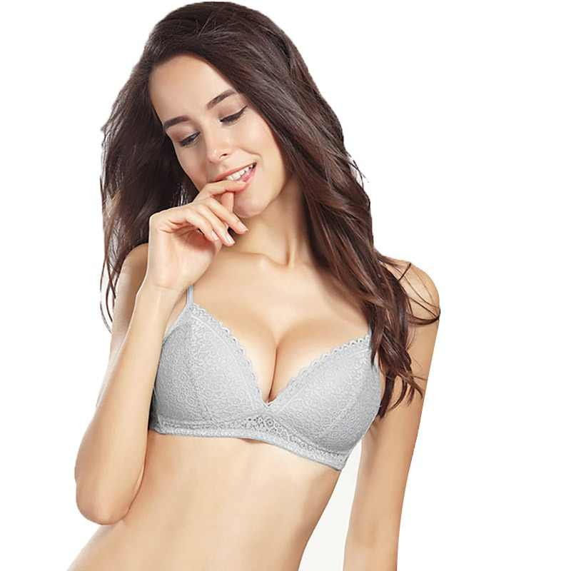 bae70b668f779 Women Bras top Lace Sexy Lingerie push up Lace Bras Thin cup braletter Wire  Free Deep