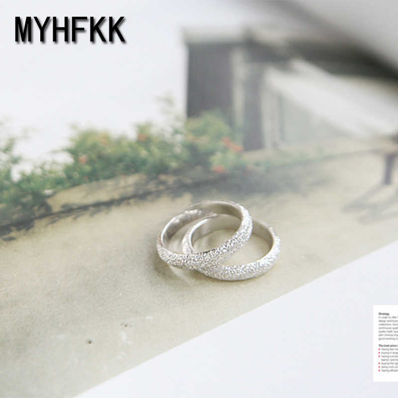 MYHFKK2019 hot sale silver round classical white wedding engagement ring woman jewelry girl ring gift ring simple ring JZ666