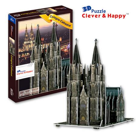 3D puzzle DIY toy paper building model cologne cathedral Cologn Church Kolner Dom Germany Hohe Domkirche St. Peter und Maria 1pc3D puzzle DIY toy paper building model cologne cathedral Cologn Church Kolner Dom Germany Hohe Domkirche St. Peter und Maria 1pc
