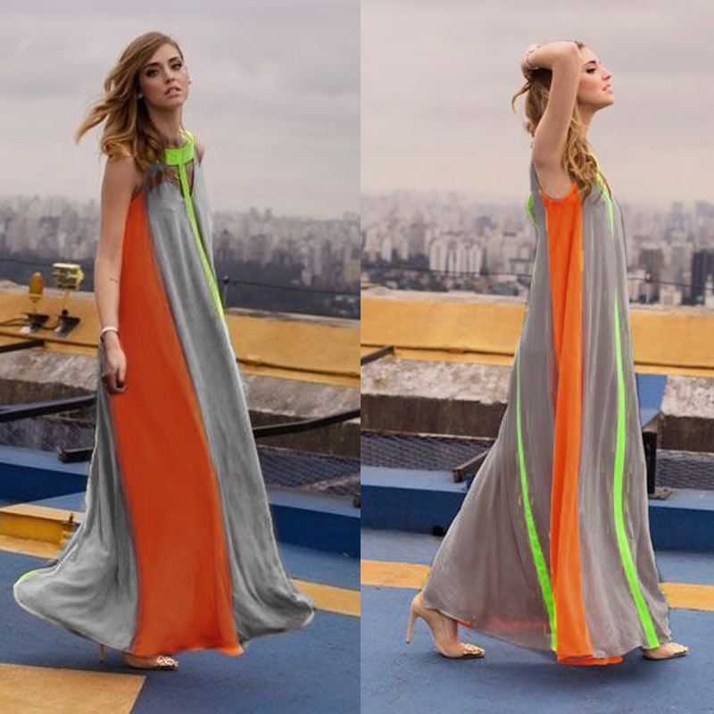 Women Boho Patchwork Long Dress Summer Style 2015 Plus Size Vestidos ...