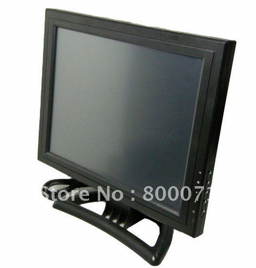 touch panel 15inch TFT LCD computer Monitor with VGA /TV /AV /4 wire resisitive touch panel touchscreen