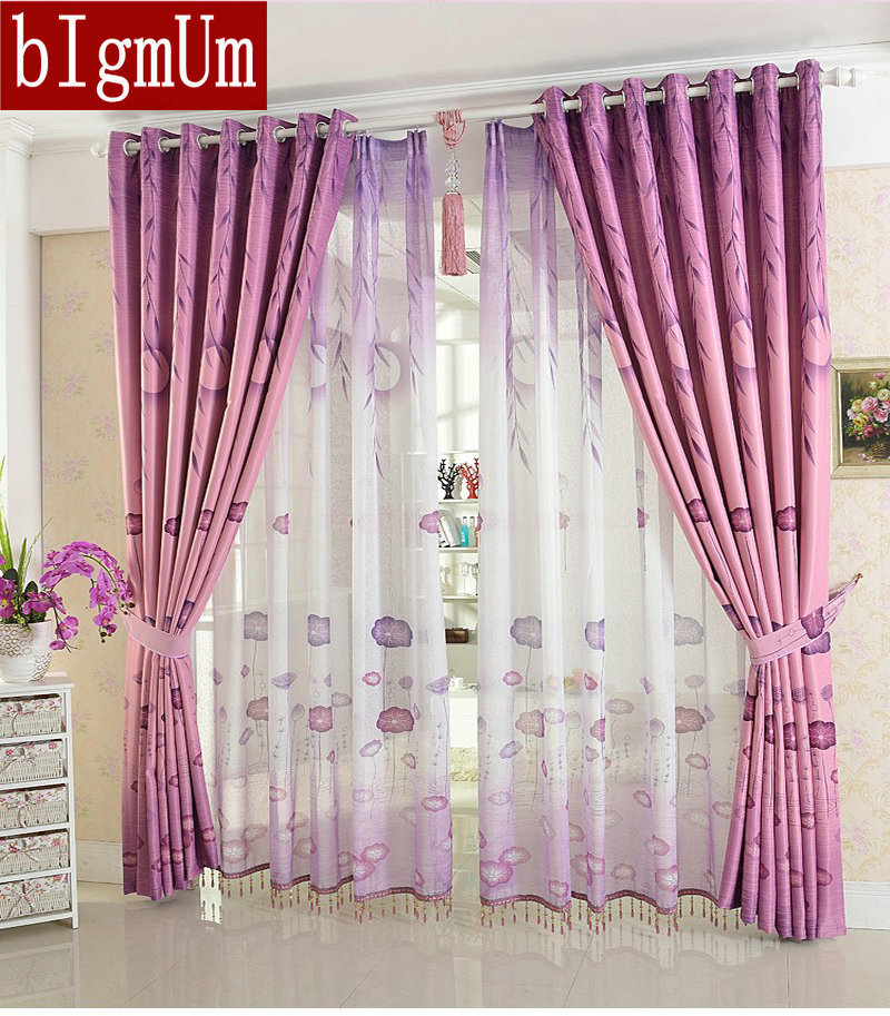 Rustic Curtains For Living Room/Kitchen Tulle+Blackout