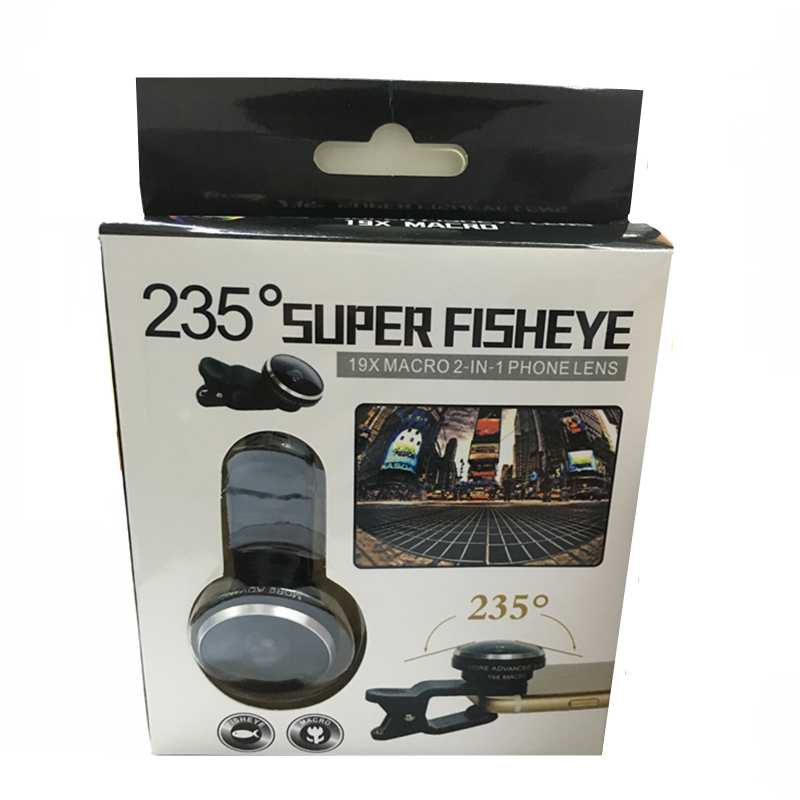 Orbart 235 derajat supre fisheye 19x makro 2 in 1 lensa telepon untuk - Aksesori dan suku cadang ponsel - Foto 5
