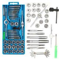 40pcs Set Metricing Tap Wrench Tip And Die Pro Set M3 M12 Screw Thread Metric Plugs