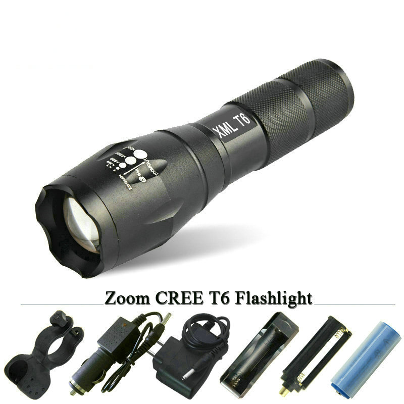 Powerful led lantern zoom lamp cree xm l2 t6 led flashlight waterproof torch 3000 lumens  AAA OR 18650 rechargeable battery cree xm l2 flashlight 5000lm adjustable zoomable led xm l2 flashlight lamp light torch lantern rechargeable 18650 2chargers z30