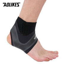 AOLIKES 1PCS Fitness Ankle Brace Ankle Strap Gym ankle Protection Running Sport Support Guard Foot Bandage Elastic Black univers