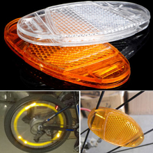 2pcs Cycling Bicycle Bike Wheel Safety Spoke Reflector High Reflective Mount Clip Warning Reflective Sheet цена