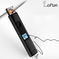 Light And Thin USB Rechargeable Metal Windproof Cigarette Lighters Flameless Electric Multicolor Plasma Eletronic Lighter