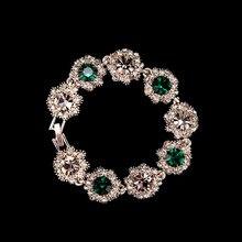 цена на Elegant Beautiful Multicolor Crystal Rhinestone Chain Bracelet Charming Cuff Bangle Jewelry Shining Multicolor Bracelet Fashion