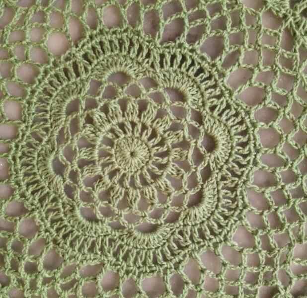Tapete redondo de 40cm de encaje para mesa de algodón, tapete de ganchillo, taza, mantel, sartén de té, posavasos, hecha a mano Blonda, cocina