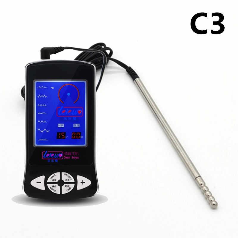 尿道プラグ電気ショック尿道拡張器刺激ゲームセックス玩具治療装置医療お題カテーテル& I9-1-166