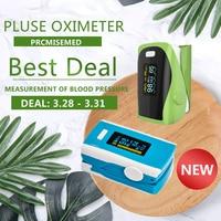 PR+MISE M110blue+F9green Household Health Monitors Finger Pulse Oximeter ABS Silicone Sensor Equipment Pulsioximetro
