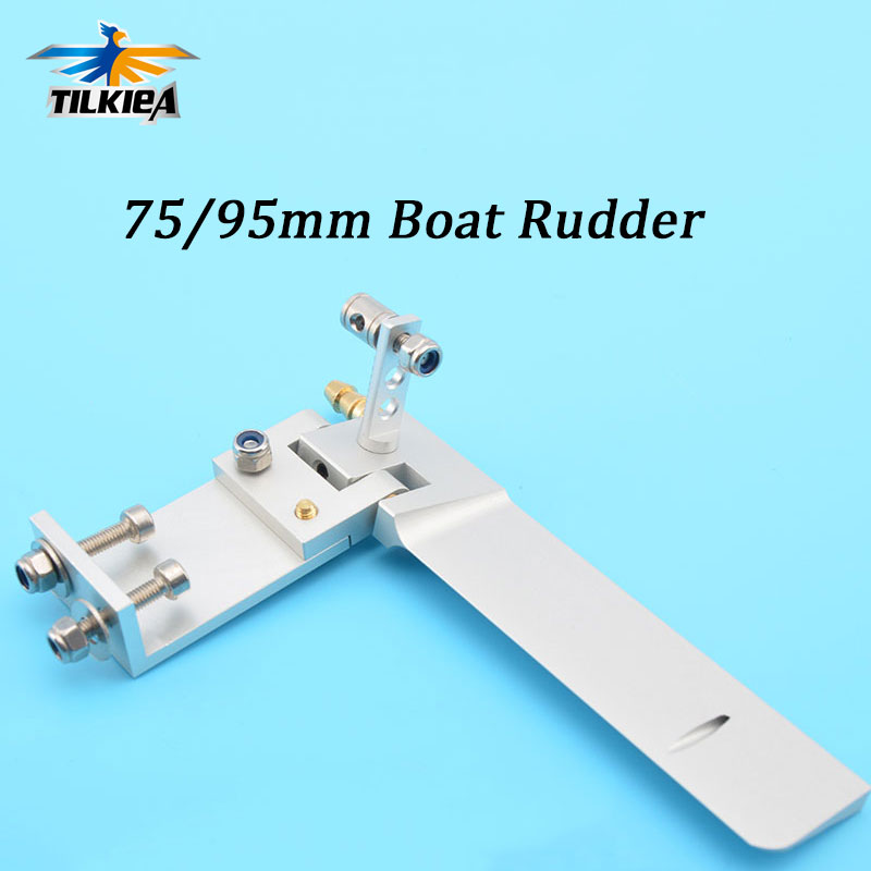 6061 Aluminum Alloy  60x75mm 60x95mm Rudder for RC Boat Excellent Quality