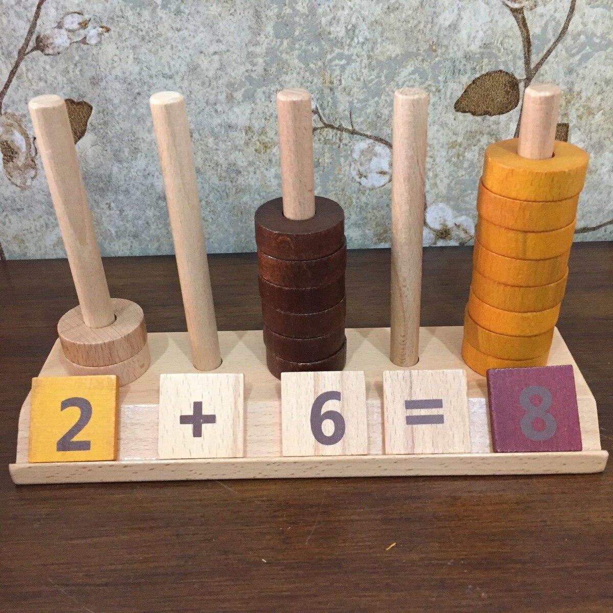Montessori Wooden Math Oyuncak Toys For Children Preschool Learning Educational Game