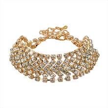 Женский браслет с кристаллами toucheart золотого цвета свадебная