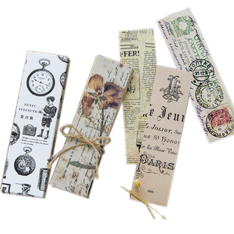 10boxes/lot NEW Retro Collection Series Bookmark Set 30pcs/set DIY Multifunctional Cards For Students Nice Gift Book Marks