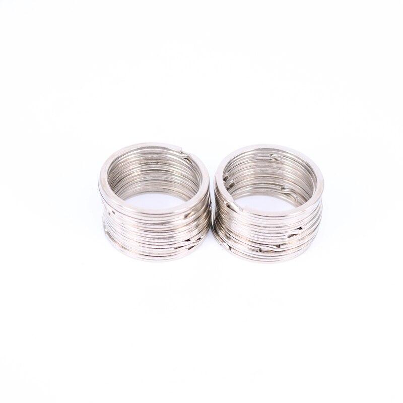 10 шт. металлический держатель для ключей Разделение кольца брелок аксессуары 30 мм ...