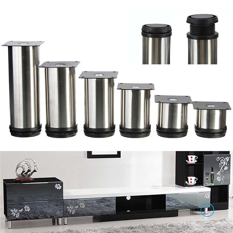 4pcs Set Cabinet Metal Legs Adjustable Stainless Steel Home