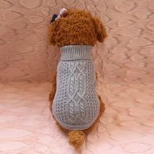 Модные зимние однотонные свитер для собаки, для питомца собаки кошки Одежда для маленьких и больших собак вязаный свитер SZ