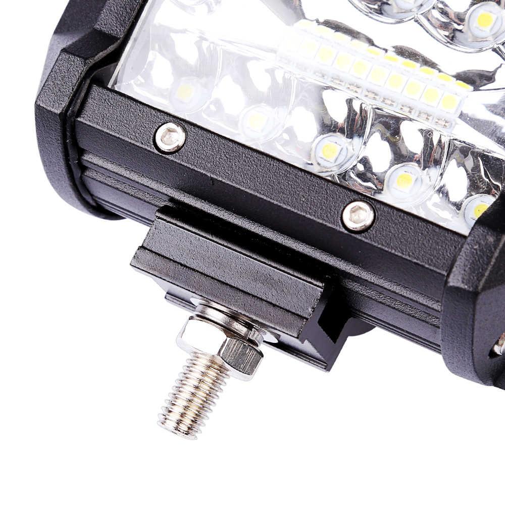 جديد عمود إضاءة led قضيب مصابيح عملي 12 فولت الأضواء الطرق الوعرة 4x4 60 واط 4 بوصة كومبو الفيضانات السوبر مشرق القيادة مصباح العمل ل SUV شاحنة قارب
