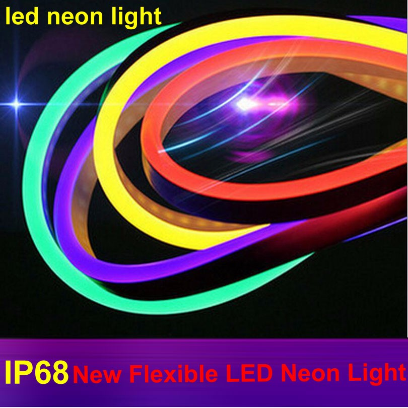 new style 0b8a6 e178e US $113.57 45% OFF|High Quality Flexible LED Neon Rope Light Waterproof  IP68 LED Neon Tape Strip Light RGB Decorative Lighting 10M Color  Changing-in ...