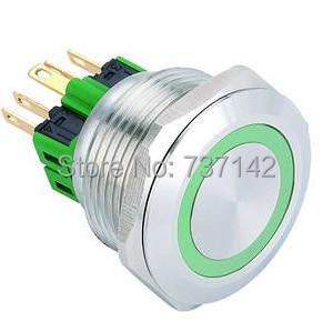 ELEWIND 28mm Ring illuminated push button switch(PM281F-11E/G/12V/S)