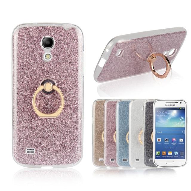 14fd68bb9fd For samsung galaxy s4 mini Case Flash powder TPU Soft Silicon With Ring  Case Cover for samsung s4 mini i9190 Coque Fundas