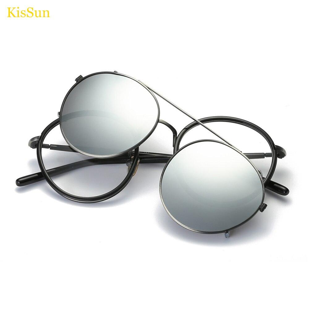 Petit Steampunk lunettes de soleil hommes Steam Punk lunettes de soleil miroir polarisé Clip sur lunettes de soleil miroir Punk lunettes 2017 nouveau