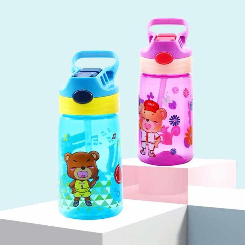 430 мл Детские портативные чашки для кормления питья бутылки с соломинкой