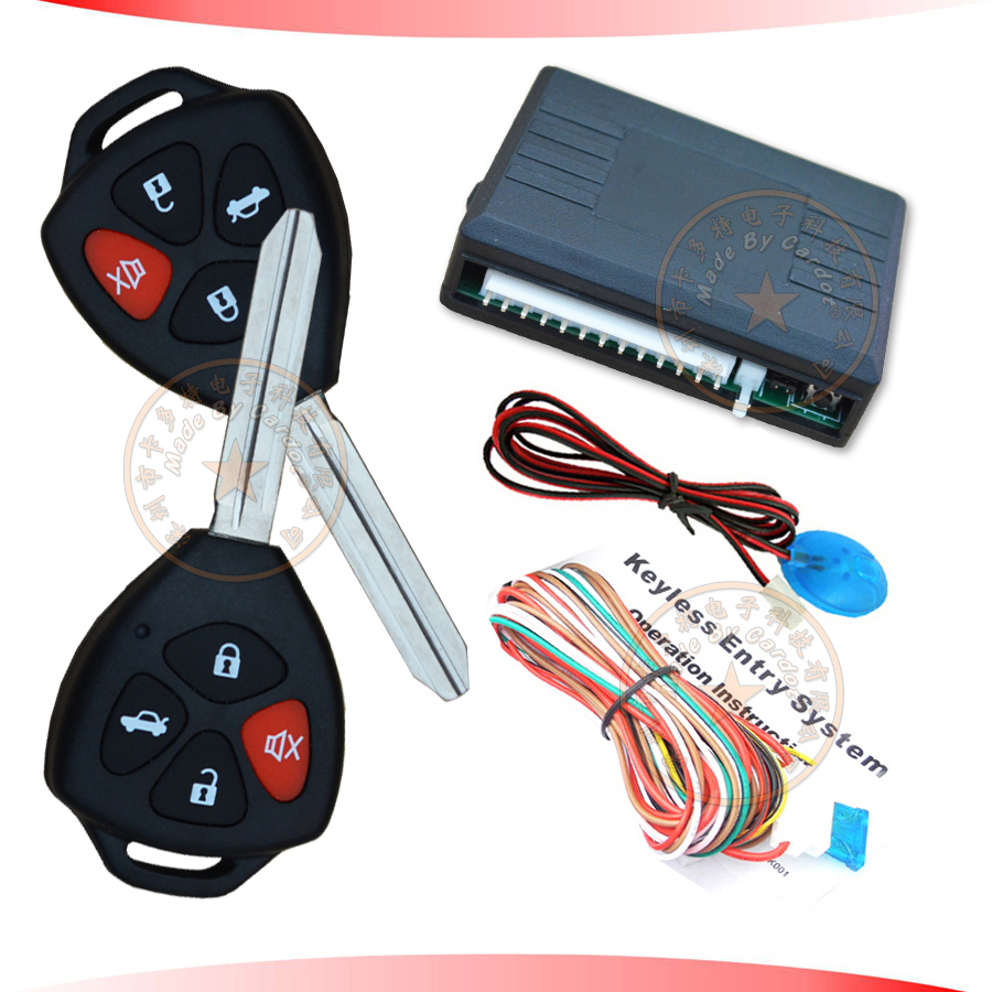 remote keyless entry with toyota remote key lock unlock trunk release remote central door lock keyless entry with 4 function key-in Burglar Alarm from ...  sc 1 st  AliExpress.com & remote keyless entry with toyota remote key lock unlock trunk ...