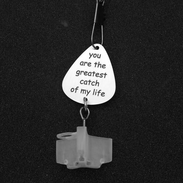 You are My Greatest Catch Fishing Gift Fishing Lure Mens Gift Fishing Lure Stainless Steel Key Ring Fish Hook Pendant 1