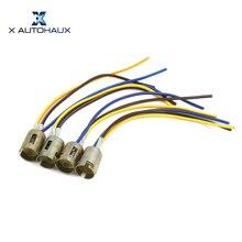X AUTOHAUX 4 шт. 3 провода 1157 лампа гнездо тормоза поворотник светильник жгут светодиодный адаптер лампы