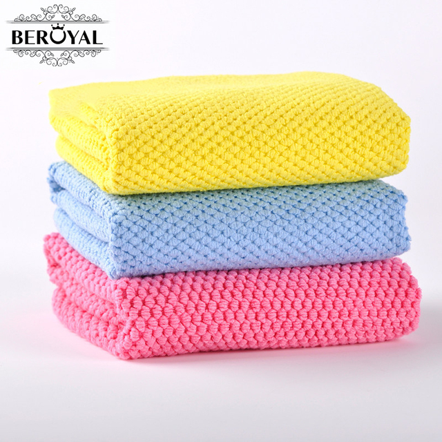 New 2016   3pc/lot Microfiber Kitchen Towel Waffle Weave Hand Towel Quick  Dry Compressed