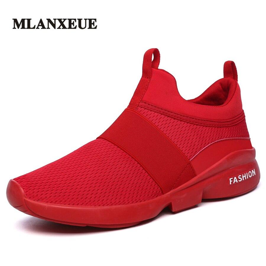 MLANXEUE 2018 automne respirant léger maille baskets été confortable hommes chaussures tissé chaussures mâle Sneaker mode chaussure antidérapante