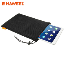 HAWEEL Nylon Bag+Stay Cord For iPad Air 2&1 Mesh Pouch Bag Size: 29cm x 19cm Bags iPad4/3/2/1