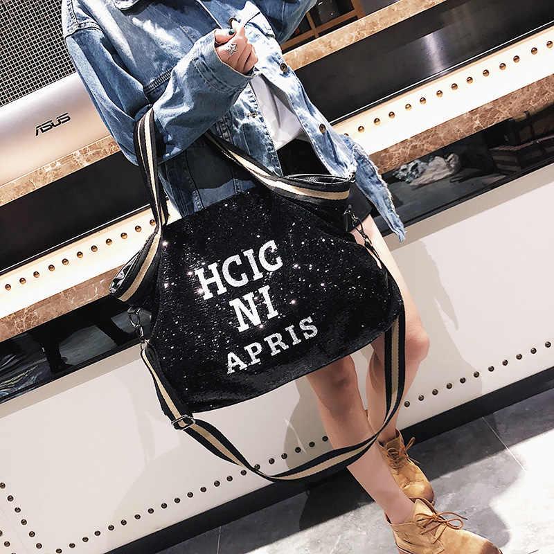 Женские сумки с блестками, большие вместительные сумки с верхними ручками и аппликацией, женские сумки в национальном стиле, повседневные сумки-мессенджер для девушек
