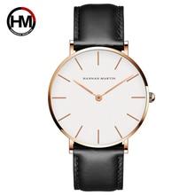 Любители пару часов для Для мужчин Для женщин Элитный бренд кожа кварцевые женские Наручные часы розовое золото Женский Мужской Часы Relogio Feminino