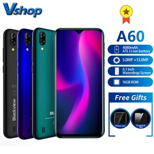 Image 1 - Blackview A60 Smartphone Quad Core Android 8.1 4080mAh Cellphone 1GB+16GB 6.1 inch 19.2:9 Screen Dual Camera 3G Mobile Phone