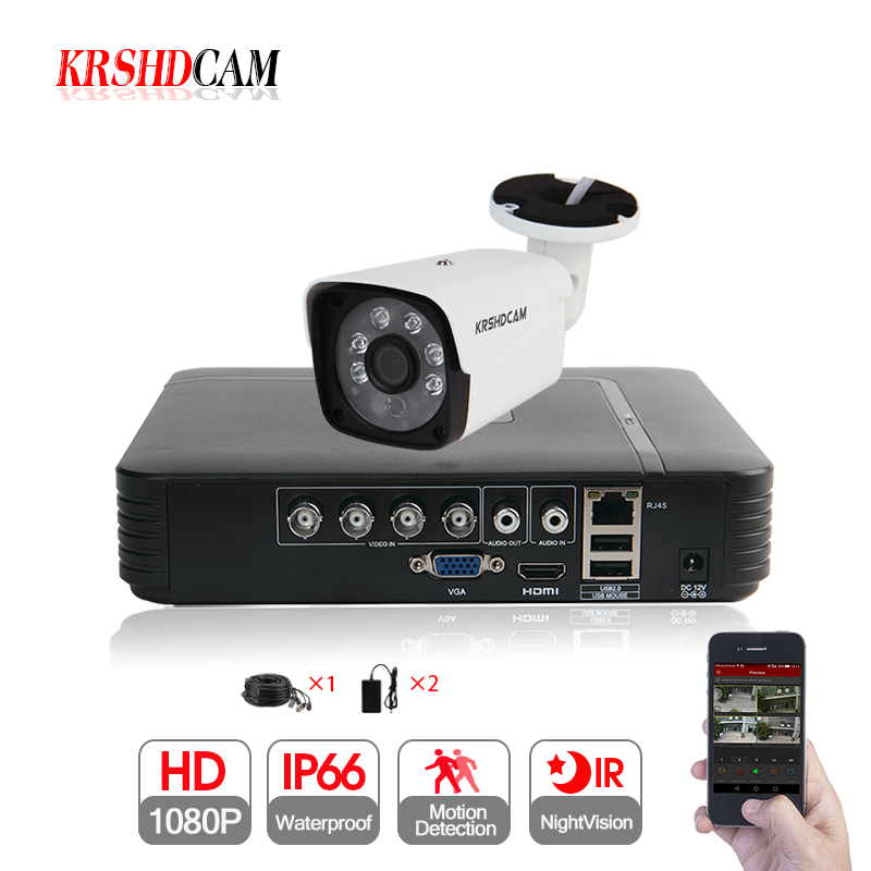 KRSHDCAM 4CH CCTV System 1080N 5in1 DVR 1080P AHD camera 1pcs 3000TVL Waterproof Outdoor Security Home Video Surveillance kitKRSHDCAM 4CH CCTV System 1080N 5in1 DVR 1080P AHD camera 1pcs 3000TVL Waterproof Outdoor Security Home Video Surveillance kit