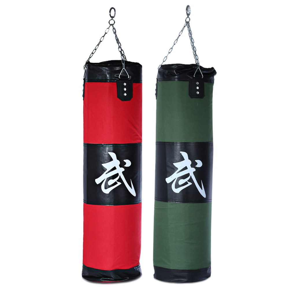 Hot Sale Zooboo 1Pcs 100cm Punching Sand Bags 2 Colors Hollow Boxing Pad With Chain Martial Art Boxing Training Fitness Sandbag