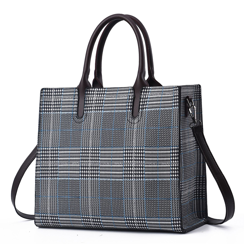 Classic Women Fashion Plaid Handbag New Top Handle Tote Bag Large Capacity Lady Messenger Bag Laptop Shoulder Bags Female Bolsa