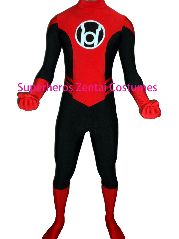 17b1f403f669d Red Lantern Corps Costume Halloween Cosplay Mens Superhero Costume The Most  Popular Show kids adults Zentai Suit Free Shipping
